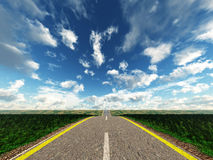 Automobile highway Stock Images