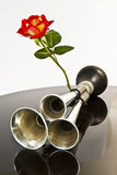 Automobile Horn, And A Rose. Royalty Free Stock Photos