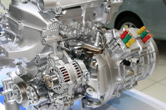 Automobile Hybrid Engine. High technology of hybrid electric automobile engine royalty free stock images