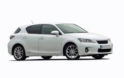 Automobile ibrida bianca Immagini Stock Libere da Diritti