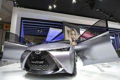 Automobile ibrida gas-elettrica di concetto di Toyota FT-HT Immagine Stock Libera da Diritti