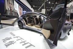Automobile ibrida gas-elettrica di concetto di Toyota FT-HT Fotografia Stock