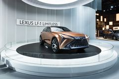 Automobile illimitata di concetto di Lexus LF-1, NAIAS immagine stock