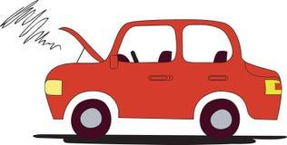 Automobile incagliata dal amlfunction del motore fotografia stock libera da diritti