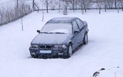 Automobile innevata Fotografia Stock