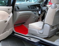 Automobile-interior. Interior view of a Toyota car Stock Images
