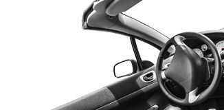 Automobile interior. View of the interior of a modern automobile Royalty Free Stock Photos