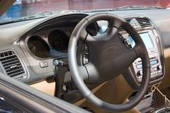 Automobile interna di esposizione automatica del trasporto fotografie stock libere da diritti