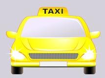 Automobile isolata con il segno del tassì Immagine Stock Libera da Diritti