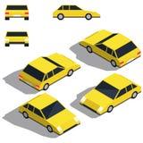 Automobile isometry Vista isometrica dettagliante bassa delle automobili Immagini Stock Libere da Diritti