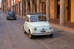 Automobile italiana d'annata Fiat 500 Fotografia Stock Libera da Diritti