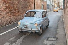 Automobile italiana d'annata Fiat 600 Fotografie Stock Libere da Diritti