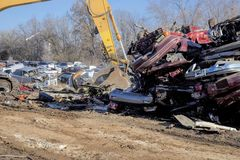 Automobile junk-yard stock images