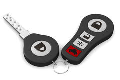 Automobile key on white background Stock Photos