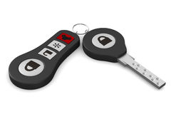 Automobile key on white background Stock Photography