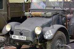 Automobile Krupp L2H143 Kfz.70 `Schnauzer` closeup. Samples of wheeled vehicles of the Wehrmacht. The period of World War II. Exhibit at the exhibition of Royalty Free Stock Photography