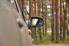 Automobile lateral mirror Stock Images