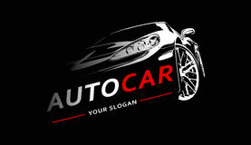 Automobile Logo Abstract Lines Vector Illustrazione di vettore royalty illustrazione gratis