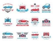 Automobile Logo Set Fotografie Stock Libere da Diritti