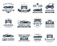 Automobile Logo Set Black Royalty Illustrazione gratis