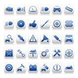 Automobile maintenance icons Stock Photography