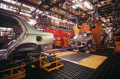 Automobile manufacturing plant Royalty Free Stock Photos