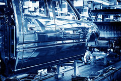 Automobile manufacturing plant Royalty Free Stock Photo