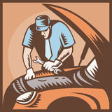 Automobile Mechanic Car Repair Royalty Free Stock Photos