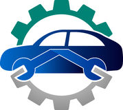 Automobile mechanic logo royalty free illustration