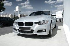 Automobile moderna: BMW 3 Fotografia Stock Libera da Diritti