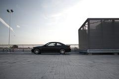 Automobile moderna nera Fotografia Stock Libera da Diritti