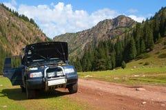 Automobile in montagne Fotografie Stock