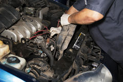 Automobile motor repair mechanic Royalty Free Stock Photos