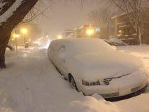 Automobile nella neve Fotografia Stock Libera da Diritti