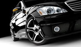Automobile nera Immagini Stock