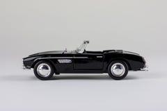 Automobile nera del giocattolo Fotografie Stock Libere da Diritti