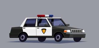 Automobile nera della polizia Fotografia Stock Libera da Diritti