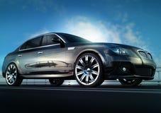 Automobile nera elegante Fotografia Stock