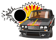 Automobile nera sintonizzata vettore Immagine Stock Libera da Diritti