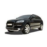 Automobile nera tedesca isolata su bianco Immagine Stock