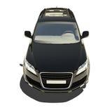 Automobile nera tedesca isolata su bianco Immagine Stock Libera da Diritti