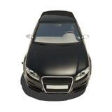 Automobile nera tedesca isolata su bianco Fotografia Stock