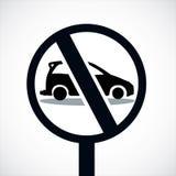 Automobile nessun passaggio da parte a parte Immagini Stock Libere da Diritti