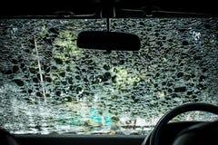 Automobile nociva dell'interno di vetro (parabrezza dell'automobile) Fotografie Stock Libere da Diritti