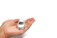 Automobile in nostra mano Immagini Stock