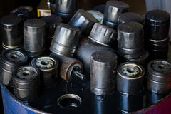 Automobile oil filters background Royalty Free Stock Photography