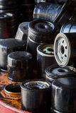 Automobile oil filters background Stock Images