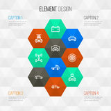 Automobile Outline Icons Set. Collection Of Accumulator, Washing, Electric Car And Other Elements. Also Includes Symbols. Automobile Outline Icons Set Royalty Free Stock Photos