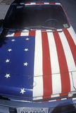 Automobile painted as an American flag Royalty Free Stock Image