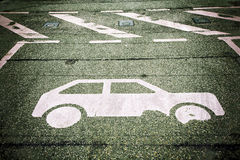 Automobile parking Stock Photo